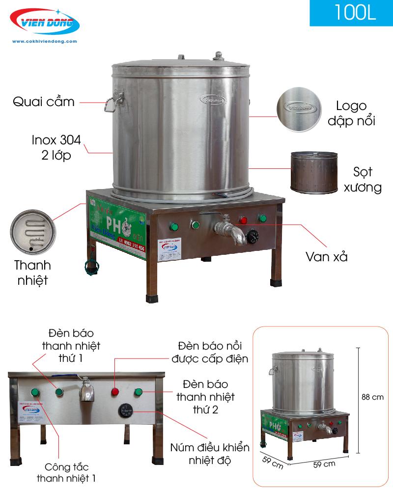 chi tiết nồi nấu phở điện 100L-01