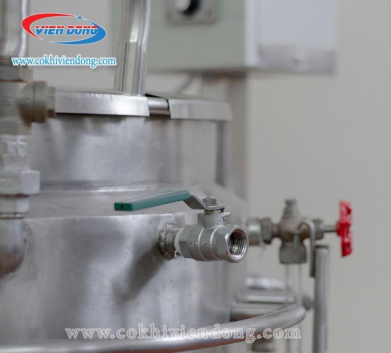 Hệ thống van của nồi nấu sữa đậu nành công nghiệp