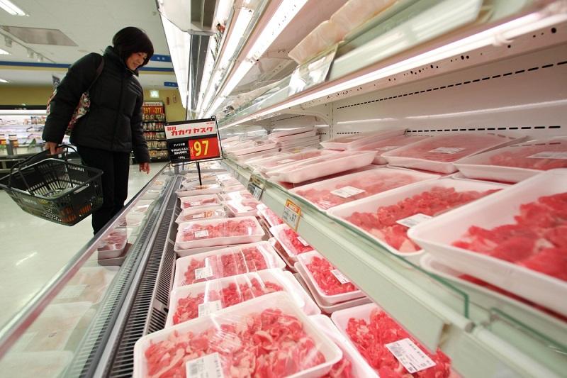 thịt đông lạnh tại siêu thị
