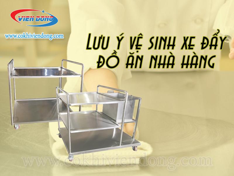 lưu ý vệ sinh xe đẩy đồ ăn trong nhà hàng