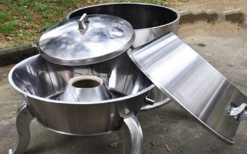 cấu tạo lò quay vịt dùng than