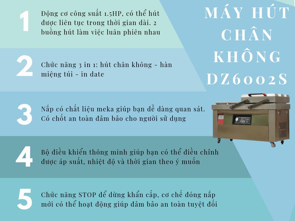 đặc điểm máy ép chân không công nghiệp DZ 600 2S
