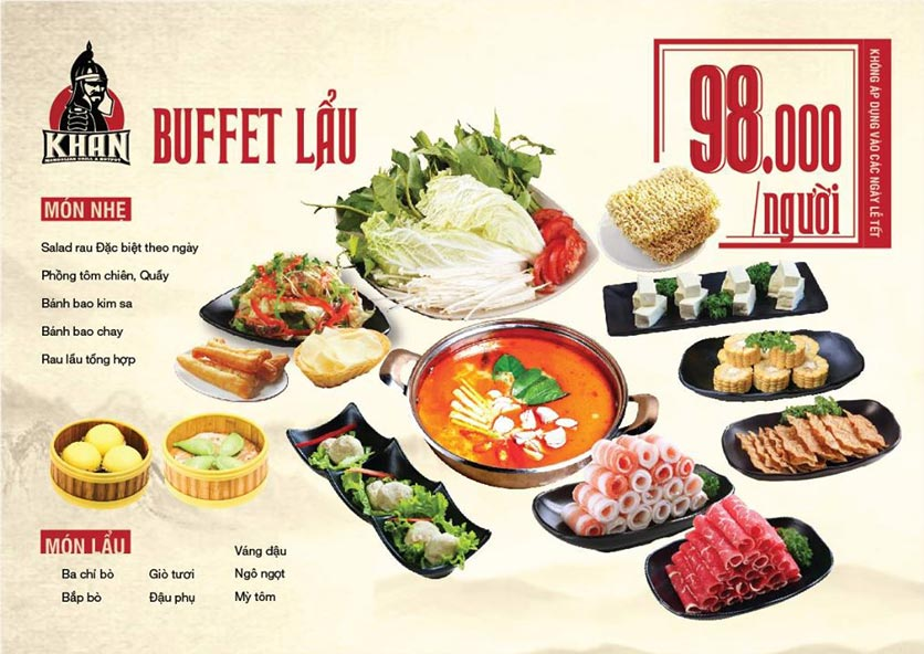 menu lẩu buffet