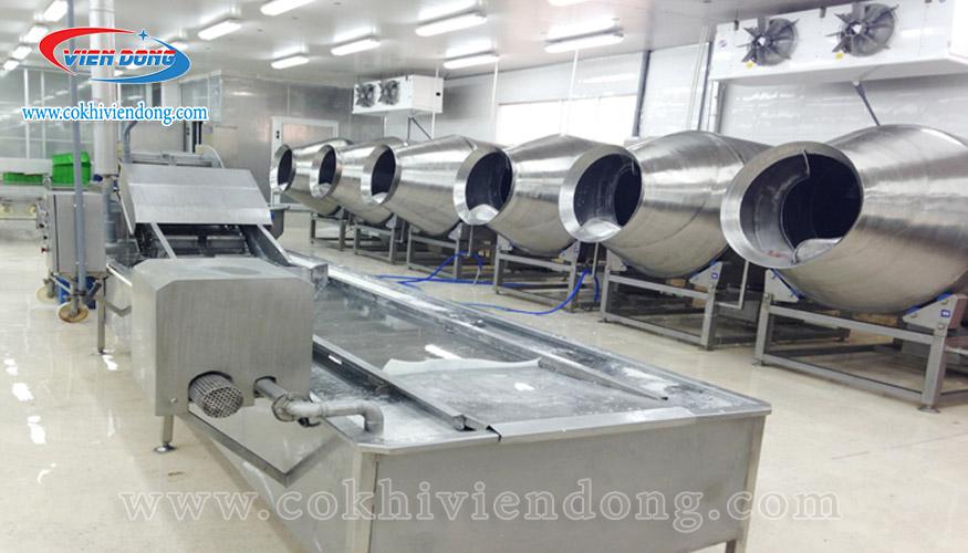 Máy rửa cá công suất lớn