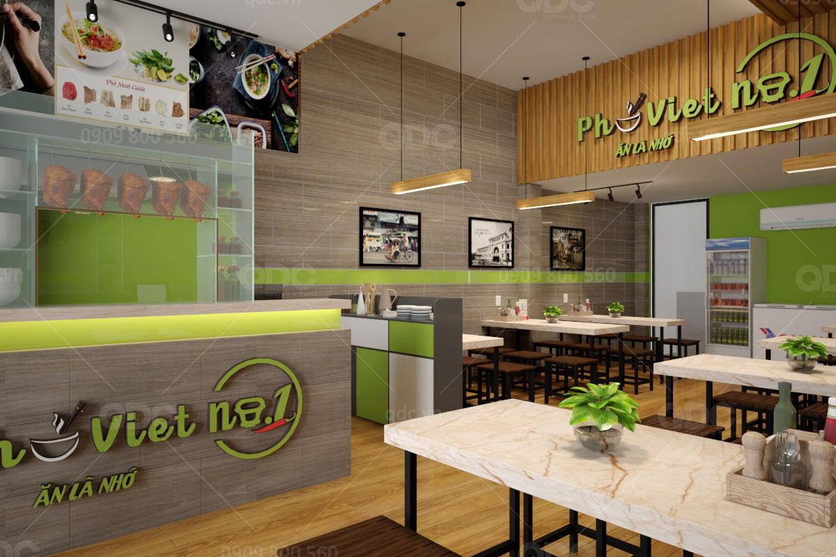 Thiết kế nhà hàng phở việt nam